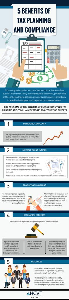 5 Benefits of Tax Planning and Compliance  Is your private business, fund, or employee benefit plan in need of a thorough audit or tax planning and compliance assistance? Read on to learn the benefits of this professional service. http://www.mediafire.com/view/jxo1tb04r3y6r9b/5-benefits-of-tax-planning-and-compliance_58e7479f9dbb6_w1500.png#