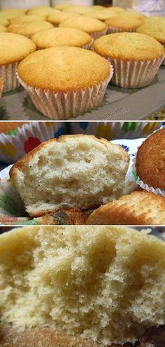 Massa de cupcake de baunilha (não amanteigada)