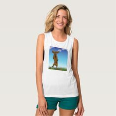 Skipping Doxie Tank Top - animal gift ideas animals and pets diy customize