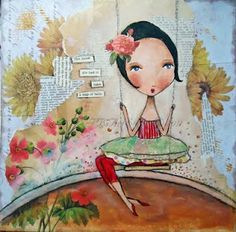 Leap of Faith by pbsartstudio (patti ballard).  Her people remind me very much of Danita's work.