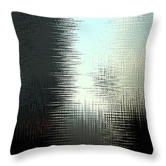 """Between the Lines Throw Pillow 14"""" x 14"""" by Marnie Patchett"""