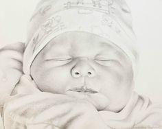 Dominic | Melissa Helene Fine Arts 8x10 graphite portrait www.melissahelene.com #portrait #drawing #graphite #infant #baby #artwork