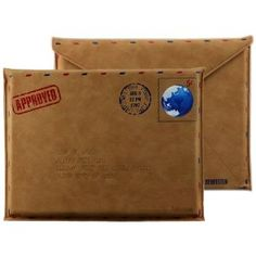 Amazon.com: 10 inch Brown Vintage Letter Post Air Mail Envelope Style Tablet Netbook Slim Fit Sleeve Cover Carry Case Pouch Bag for Apple iPad 1, 2 & 3 / Amazon Kindle 3 Kindle 4 Kindle Touch: Kindle Store