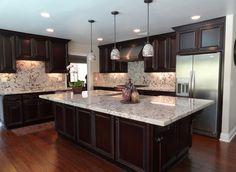 Stone Studio Wood Floor Finish Dark Wood Cabinet Pendant Lights White ...  If I Part 52