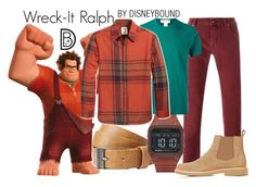 """""""Wreck-It Ralph"""" by leslieakay ❤ liked on Polyvore featuring Billabong, Jacob Cohёn, Electric, RALPH, Comme des Garçons, Levi's, A.P.C., men's fashion, menswear and disney"""
