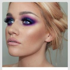 Purple!! Eye makeup