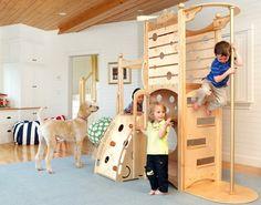 kinderzimmer gestalten bett spielplatz naturholz. Black Bedroom Furniture Sets. Home Design Ideas