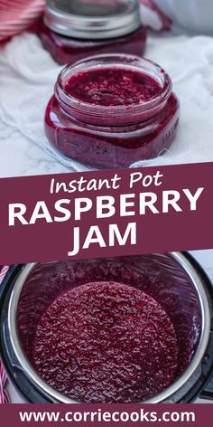 A super easy recipe for homemade jam! Healthy, naturally sweet and quick to prepare, this jam will surely make you and your kids happy at breakfast. You can use any other fruits according to the season and just adapt the amount of maple syrup obtain your favorite flavor and texture. For this Instant Pot jam recipe, you can use fresh or frozen raspberries. Best Pressure Cooker Recipes, Instant Pot Pressure Cooker, Slow Cooker, Jam Recipes, Canning Recipes, Crockpot Recipes, Fruit Recipes, Best Instant Pot Recipe, Instant Pot Dinner Recipes