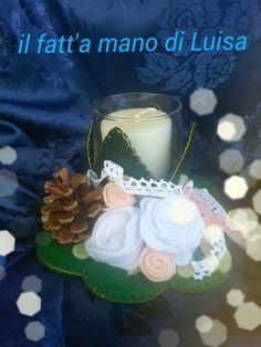 candela natalizia centro tavola #le maddine#feltro pannolenci  # https://www.facebook.com/Il-fatta-mano-di-Luisa-327849927338957/