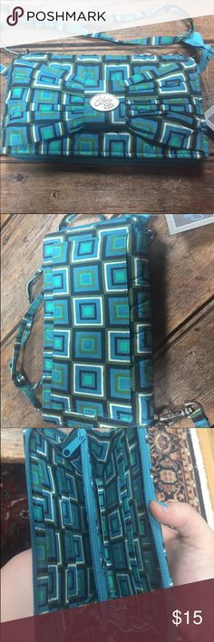 NWT Mona B Blue Patterned Wallet/ Clutch See pictures. Very cute. Offers welcomed MB Bags Wallets