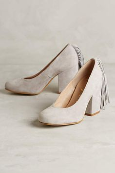 Ouigal Gloria Fringe Heels - anthropologie.com