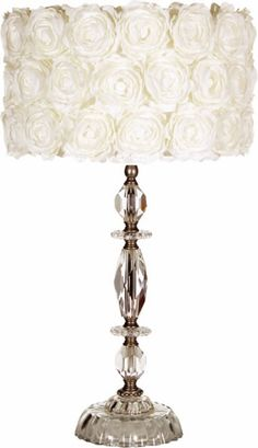in love with this rose covered lamp shade!