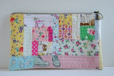 Patchwork Zippered Pouch | Flickr - Photo Sharing!