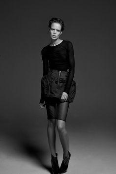 Dress Blumarine, Skirt Moi Multiple, Shoes Yves Saint Laurent