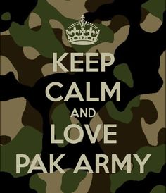 KEEP CALM AND LOVE PAK ARMY poster.