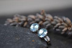 Sky blue topaz stud earrings £18.00