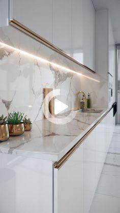 Pin on 家居装潢 Luxury Kitchen Design, Kitchen Room Design, Modern Bathroom Design, Luxury Kitchens, Home Decor Kitchen, Interior Design Kitchen, Bathroom Interior, Ceiling Design Living Room, Home Ceiling