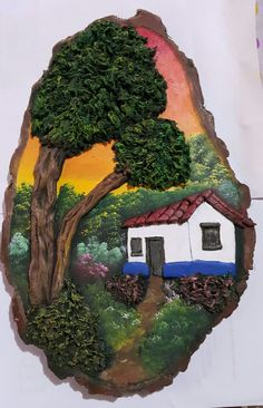 Alto Relieve. Polymer Clay Painting, Polymer Clay Projects, Tole Painting, Clay Crafts, Clay Art, Painting On Wood, Diy And Crafts, Decorated Wine Glasses, Africa Art