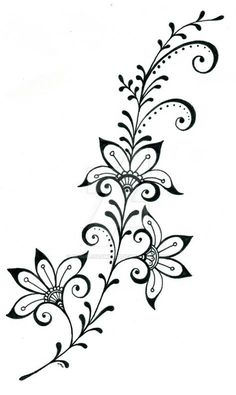 tattoo design 7 by on deviantART – Tattoo Pattern Henna Tattoo Designs, Designs Mehndi, Henna Tattoos, Art Tattoos, Embroidery Patterns, Hand Embroidery, Henna Patterns, 7 Tattoo, Swirl Tattoo