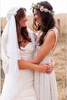 'Our wedding included of all the things near & dear to us, & brought together all the places we love such as the relaxed island life, Fijian, Hawaiian, Maori influences. Lesbian Wedding, Wedding Pics, Wedding Styles, Dream Wedding, Wedding Dresses, Wedding Ideas, Lesbian Couples, Wedding Engagement, Wedding Cake