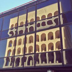 """The Palazzo della Civiltà Italiana (""""Square Colosseum"""") in EUR, Rome."""