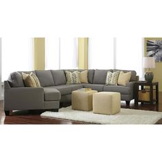 Chamberly 5-Piece Sectional with LAF Cuddler in Alloy | Nebraska Furniture Mart