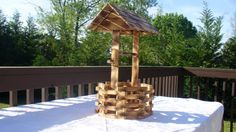 Handcrafted Pine Wood Wishing Well by ForeverYoursCreation on Etsy, $30.95