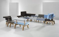 WorkSofa by PROOFF Arrangement in Blue and Grey