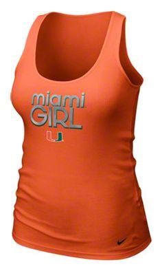 Miami Hurricanes Women's Orange Nike Girl Rib Tank Top
