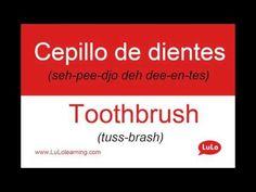 Cepillo de Dientes en Inglés = Toothbrush in Spanish | Casa Bilingüe = Bilingual Home by LuLo - YouTube