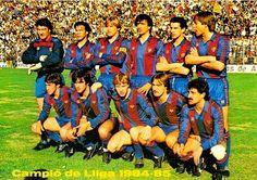 EQUIPOS DE FÚTBOL: BARCELONA Campeón de Liga 1984-85