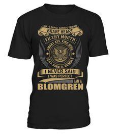 BLOMGREN - I Nerver Said