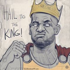 LeBron James Hail to the King Sketch – Hooped Up Cyo Basketball, Basketball Memes, Basketball Players, Basketball Workouts, Basketball Birthday, Girls Basketball, College Basketball, Basketball Pictures, Basketball Hoop