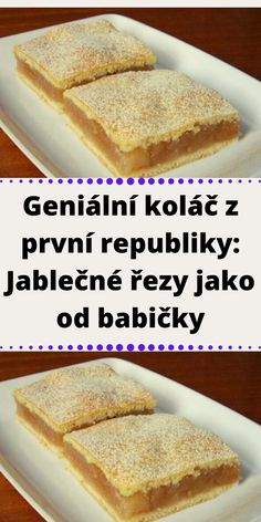 Czech Recipes, Dessert Recipes, Desserts, Apple Pie, Ham, French Toast, Food And Drink, Cooking Recipes, Keto