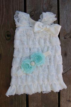Newborn dress. Newborn ruffle dress Rustic dress by KadeesKloset, $27.95