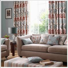Ashley Wilde Tewksbury Heritage Fabric Curtains are coming soon! Scarf Curtains, Voile Curtains, Curtain Fabric, Bedroom Curtains, Privacy Curtains, Custom Made Curtains, Traditional Fabric, Home And Living, Interior Inspiration