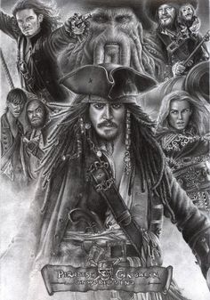 We know who was best Pirate ever, Captain Jack Sparrow. So, in honor of our captain, we brought you this amazing Pirates Of The Caribbean Poster Collection. Pirate Art, Pirate Life, Captain Jack Sparrow, Caribbean Art, Pirates Of The Caribbean, Jack Sparrow Drawing, Sparrow Tattoo, Pirate Tattoo Jack Sparrow, Celebrity Drawings