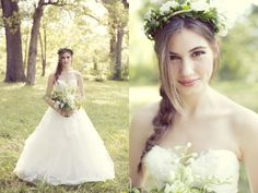 Love her loose braid and flower crown! #weddinghair photo by Sarah Kate Photographer http://www.thebridelink.com/blog/2013/07/22/bohemian-garden-wedding-by-sarah-kate-photography/ #weddings #garden