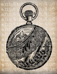 Shop for on Etsy, the place to express your creativity through the buying and selling of handmade and vintage goods. Old Pocket Watches, Pocket Watch Antique, Time Heals, Clock Faces, Tea Towels, Clocks, Pewter, Cool Tattoos, Burlap