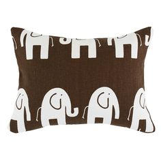 I pinned this Elephants Brown Pillow in White from the Sweet Dreams event at Joss and Main!
