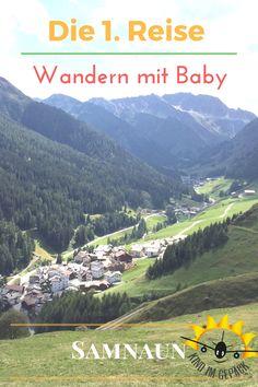 Unsere aller erste Reise ging nach Samnaun in die Schweiz zum Wandern und Entspannen. Mit unserem 3-monatigem Baby. Mit Baby wandern? Ja - wir haben es gemacht. Viel mitnehmen, außer Windeln, muss man ja nicht. Was wir ansonsten alles für den Trip eingepackt haben, welche Sorgen wir plötzlich hatten, wie die erste Reise verlief und was wir in Samnaun noch so gemacht haben erzählen wir hier.
