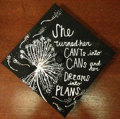 Hana's graduation cap, 2013 (from pinner) I want this layout!