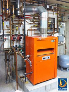 High efficiency hydronic heating with Viessmann boilers from Radiant Engineering. radiantengineering.com