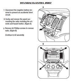 Metra 95-7332 Dash Kit for 2007 2008 2009 2010 Hyundai Elantra Double Din