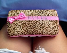 Wipe case pink or green Cheetah / leopard Safari for by MiniMeLove, $11.25