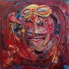 """Acrylic and collage on wood panel/Acrylique et collage sur panneau de bois - 10"""" x 10""""/25 x 25 cm Panel, Acrylic Paintings, Collage, Art, Art Background, Collages, Kunst, Collage Art, Gcse Art"""