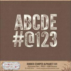 Rubber Stamp Alphabet v.01