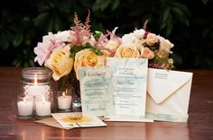 The stunning invitation suite with seed packet escort cards and custom invitations at The Horticulture Center, Philadelphia {Design: TableArt | Paper: Katie Fischer Design | Photo: Philip Gabriel Photography}