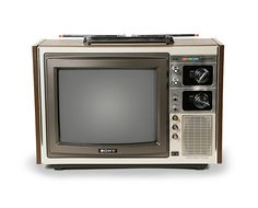Early Sony Trinitron Colour TV