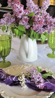 Lilacs: #Lilacs ~ Red Couch Tablescapes.